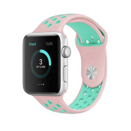 Apple watch sportbandje 42mm / 44mm - Roze + Groen