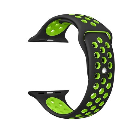 Apple watch sportbandje 42mm / 44mm - Zwart + Groen