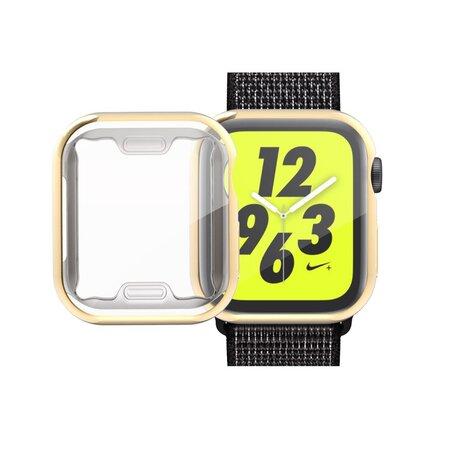 Apple watch 40mm siliconen case (volledig beschermd - goud)
