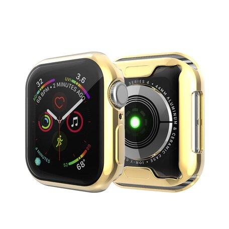 Apple watch 44mm siliconen case (volledig beschermd - goud)