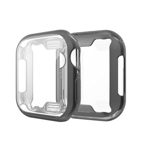Apple watch 44mm siliconen case (volledig beschermd - zwart)