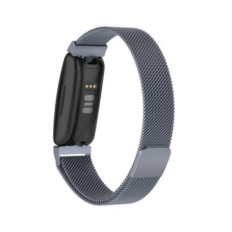 Fitbit Inspire 2 Milanese bandje (small)  - Donkergrijs