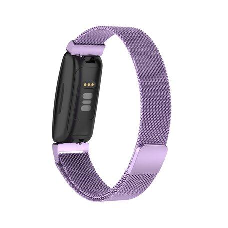 Fitbit Inspire 2 Milanese bandje (small)  - Lila