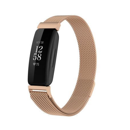 Fitbit Inspire 2 Milanese bandje (small)  - Champagne Goud