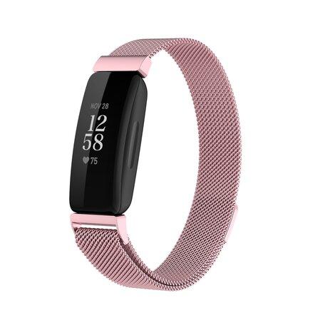 Fitbit Inspire 2 Milanese bandje (small)  - Rosé Goud