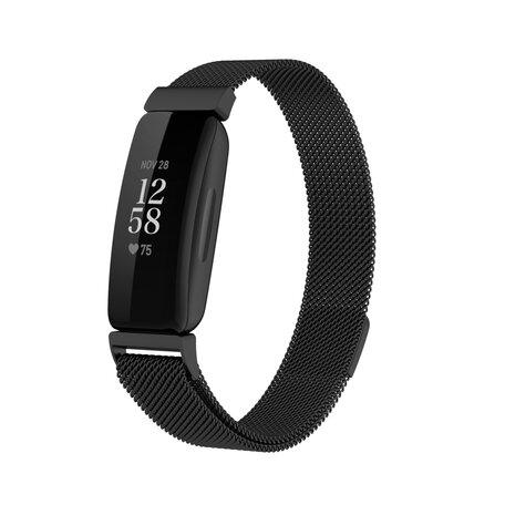 Fitbit Inspire 2 Milanese bandje (small)  - Zwart