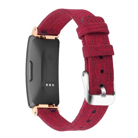 Fitbit Inspire HR Canvas bandje (small) - Rood