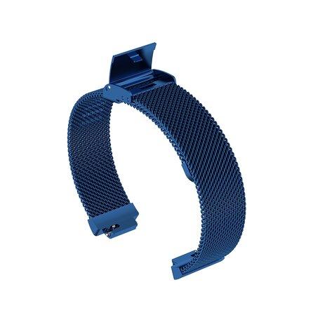 Fitbit Inspire Milanese bandje met gesp (large)  - Blauw