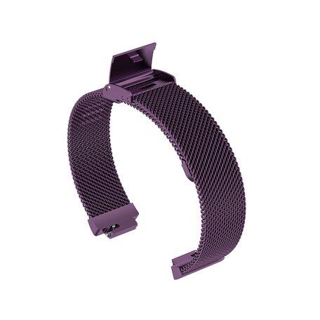 Fitbit Inspire Milanese bandje met gesp (large)  - Paars