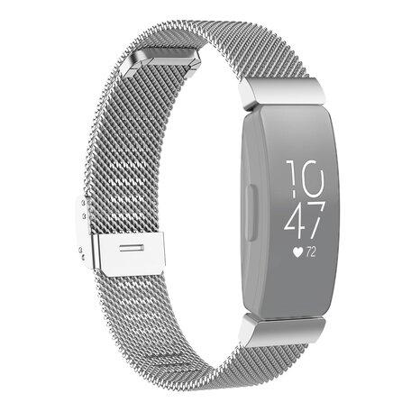 Fitbit Inspire Milanese bandje met gesp (large)  - Zilver