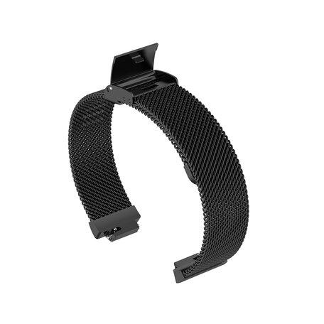 Fitbit Inspire Milanese bandje met gesp (large)  - Zwart