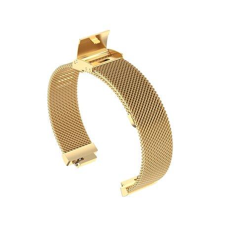 Fitbit Inspire Milanese bandje met gesp (small)  - Goud