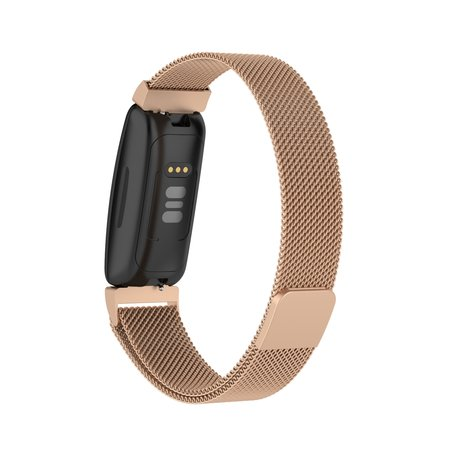 Fitbit Inspire 2 Milanese bandje (large)  - Champagne Goud