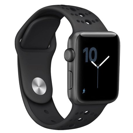 Apple Watch sportbandje 38mm / 40mm combi-kleuren - Zwart