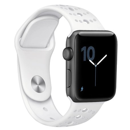 Apple Watch sportbandje 38mm / 40mm combi-kleuren - Wit