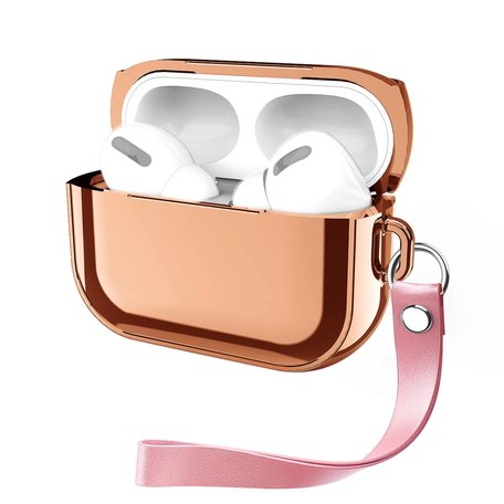 AirPods Pro Glans - hard case - Rosé goud