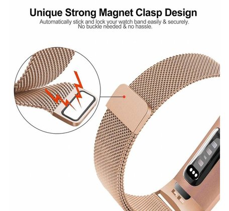 Fitbit Charge 3 & 4 milanese bandje (small) - Champagne goud