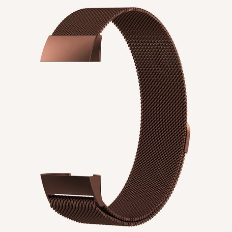 Fitbit Charge 3 & 4 milanese bandje (small) - Bruin