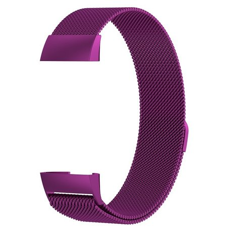 Fitbit Charge 3 & 4 milanese bandje (large) - Paars