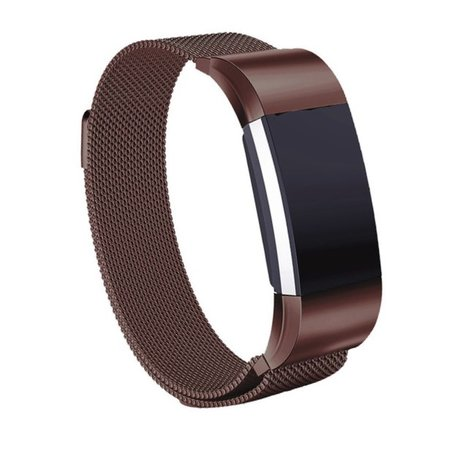 Fitbit Charge 3 & 4 milanese bandje (large) - Bruin