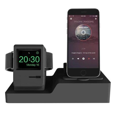 3 in 1 houder geschikt voor Apple Watch & Airpods & iPhone Standaard - Zwart
