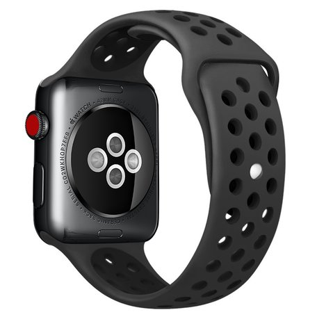 Apple Watch 38mm / 40mm - Sportbandje - Zwart - M/L