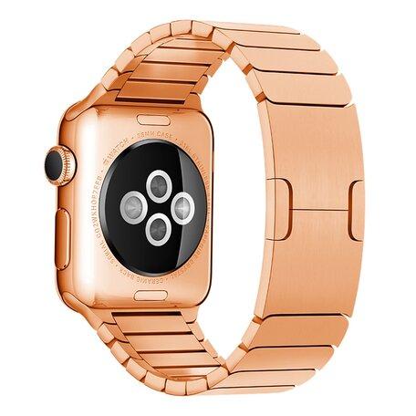 Schakelarmband Stainless Steel bandje - Rosé goud - Geschikt voor Apple Watch 42mm / 44mm