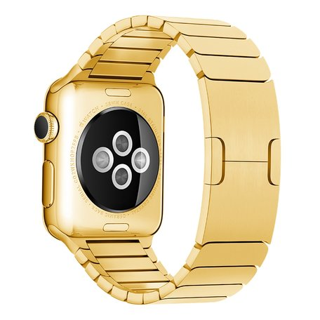 Schakelarmband Stainless Steel bandje - Goud - Geschikt voor Apple Watch 42mm / 44mm