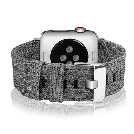 Canvas bandje - Grijs - Geschikt voor Apple Watch 42mm / 44mm
