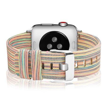 Canvas bandje - Multicolor - Geschikt voor Apple Watch 42mm / 44mm