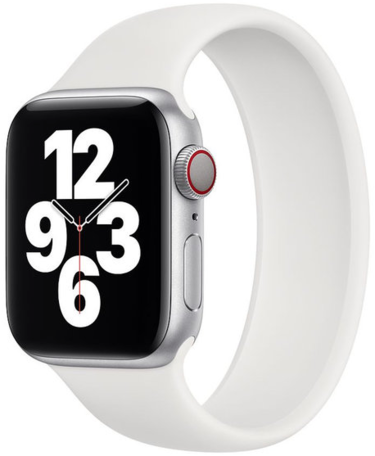 Apple Watch 38mm / 40mm - Maat: L - Solo Loop Link serie bandje - wit