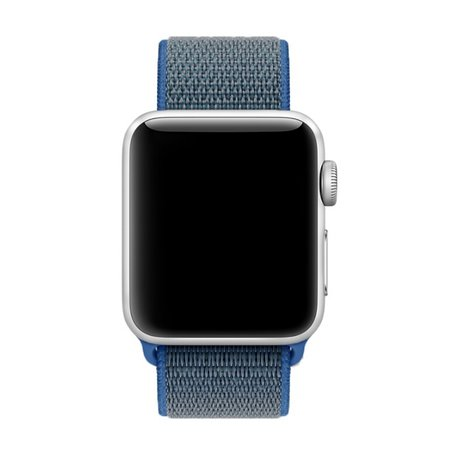 Apple Watch 38mm / 40mm - Sport Loop bandje - Donkerblauw