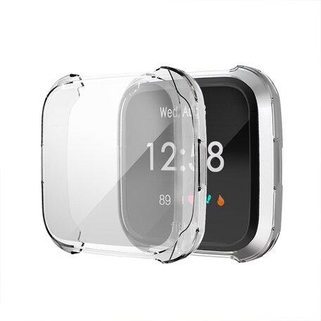 Fitbit Versa Lite Soft TPU case (volledig beschermd) - Transparant