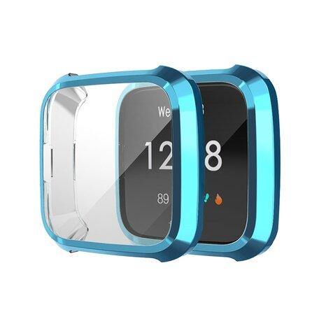 Fitbit Versa Lite Soft TPU case (volledig beschermd) - Blauw