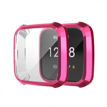Fitbit Versa Lite Soft TPU case (volledig beschermd) - Fuschia