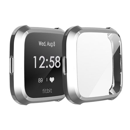 Fitbit Versa Lite Soft TPU case (volledig beschermd) - Grijs