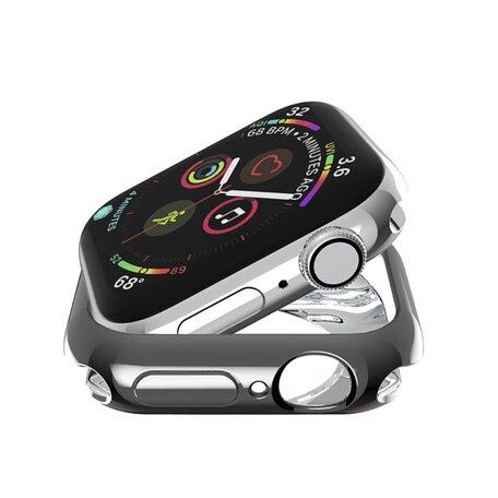 Siliconen case 44mm - Zwart - Geschikt voor Apple Watch 44mm