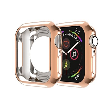Siliconen case 44mm - Rosé goud - Geschikt voor Apple Watch 44mm