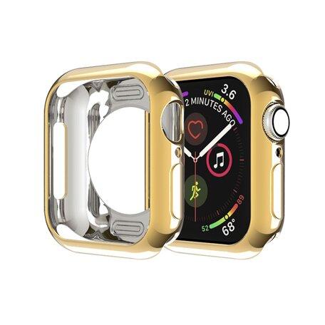 Siliconen case 38mm - Goud - Geschikt voor Apple Watch 38mm