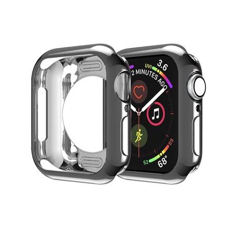Siliconen case 38mm - Zwart - Geschikt voor Apple Watch 38mm