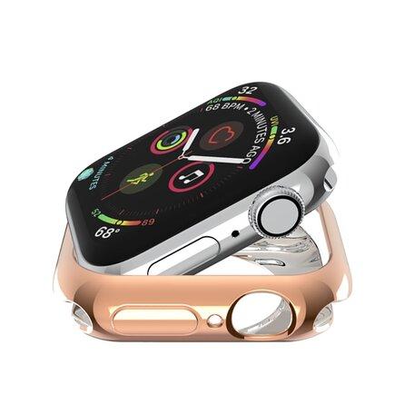 Siliconen case 42mm - Rosé goud - Geschikt voor Apple Watch 42mm