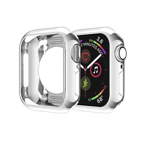 Siliconen case 38mm - Zilver - Geschikt voor Apple Watch 38mm