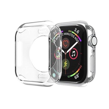 Siliconen case 44mm - Transparant - Geschikt voor Apple Watch 44mm