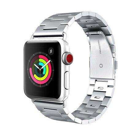 HOCO Schakelarmband staal bandje - Zilver - Geschikt voor Apple watch 42mm / 44mm
