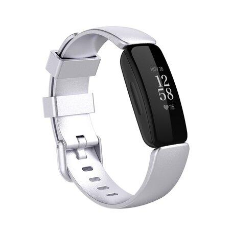 Fitbit Inspire 2 & Ace 3 - Sportbandje met gesp - Maat: Large - Zilver