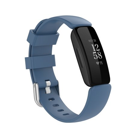 Fitbit Inspire 2 & Ace 3 - Sportbandje met gesp - Maat: Large - Blauw