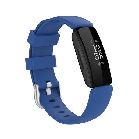 Fitbit Inspire 2 & Ace 3 - Sportbandje met gesp - Maat: Large - Donkerblauw