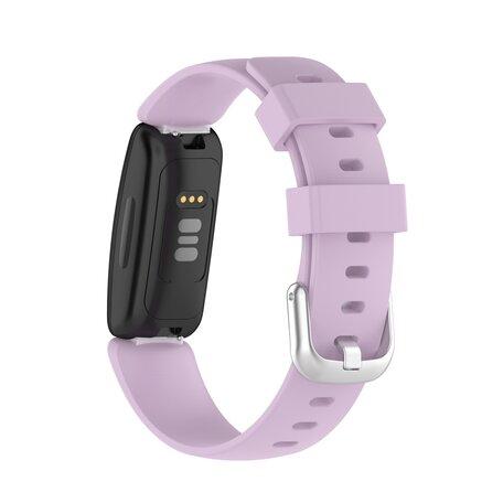 Fitbit Inspire 2 & Ace 3 - Sportbandje met gesp - Maat: Large - Lichtpaars
