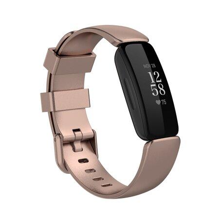 Fitbit Inspire 2 & Ace 3 - Sportbandje met gesp - Maat: Large - Rosé goud