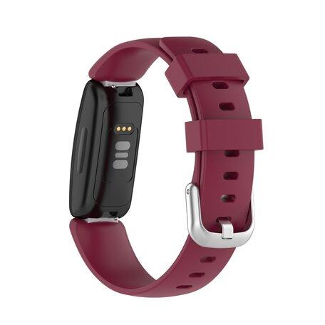 Fitbit Inspire 2 & Ace 3 - Sportbandje met gesp - Maat: Large - Bordeaux